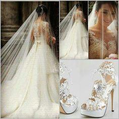b10c9bf8d3 Precioso vestido de novia Biele Svadobné Šaty