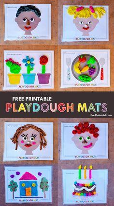 Playdough Activities, Kids Learning Activities, Toddler Activities, Preschool Activities, Learning Shapes, Montessori, Homemade Playdough, Toddler Art, Kindergarten