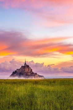 Morning in Mont St Michel, France