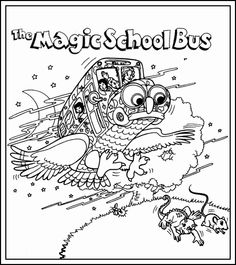 The Magic School Bus Coloring Book