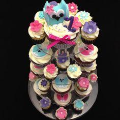 2bc06466e08 Children s Birthday Cakes -   Owl Cupcakes
