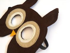 Owl Animal Children Mask Carnival Mask Halloween by BHBKidstyle, €11.00