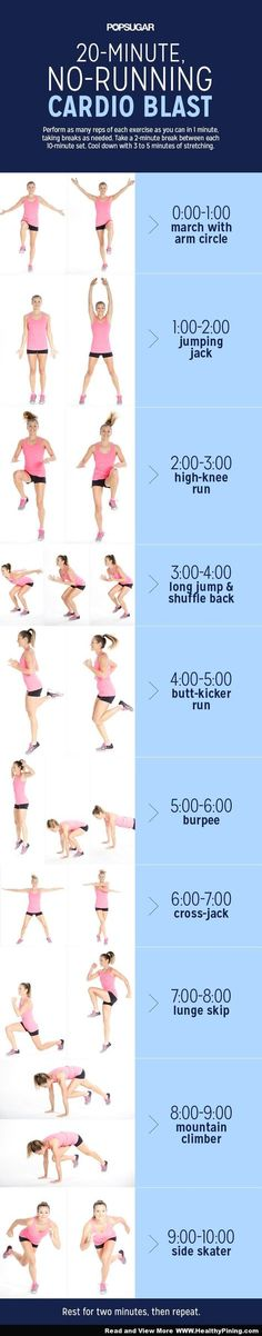 Fitness and Health - 20-Minute No-Running Cardio Blast