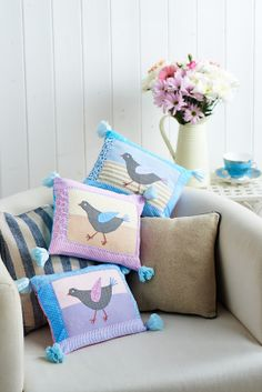 This bird cushions are fabulous (Sew, issue 58)