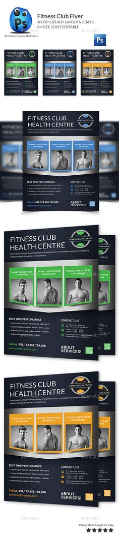 Health \ Fitness Flyer Graphics, Fonts and Flyer template - fitness flyer