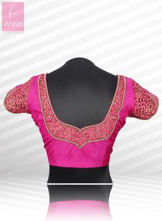 Cutom made gorgeous leaf cutwork embroidery blouse suitable for all ages.