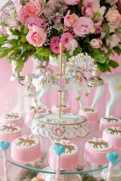 Chocolate covered carouse pony Oreos from an Enchanted Carousel Birthday Party on Kara's Party Ideas | KarasPartyIdeas.com (7)