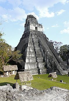 Tikal Temple 1 or Temple of the Great Jaguar, Guatamala . This is an entire city and you can climb most of the pyramids - very narrow steps - don't fall there isn't a hospital anywhere near