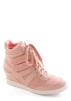 I want these so bad! Hi-Top of the World Wedge in Blush, #ModCloth
