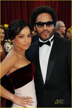 Father and Daughter... Lenny and Zoe Kravitz