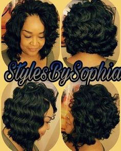Crochet Braids Bob Hair is Ocean Wave by Kima This is so pretty!!!