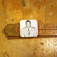 "MLK Dr. Martin Luther King Jr. Mugshot Square 1.5"" Button Pinback Pin Protest"