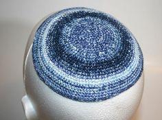 kippah blue cobalt light blue