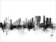 Rotterdam Skyline Rotterdam The Netherlands Cityscape