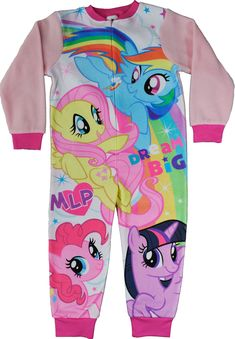 My Little Pony One Piece Sleepsuit Girls All In One Mlp Jumpsuit Pyjamas Fleece Jumpsuits For Girls, Kid Character, Bnf, Pyjamas, All In One, My Little Pony, Kids Outfits, Size 2, Onesies