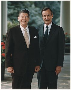 Photograph of the Official Portrait of President Ronald Reagan and Vice-President George HW Bush, 07/16/1981 - 07/16/1981