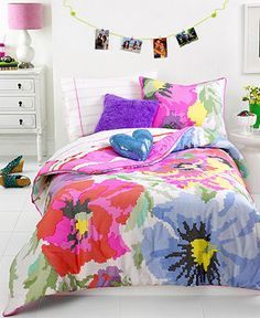 Teen Vogue Bedding, Neon Needlepoint Comforter Sets - Bed in a Bag - Bed & Bath - Macy's