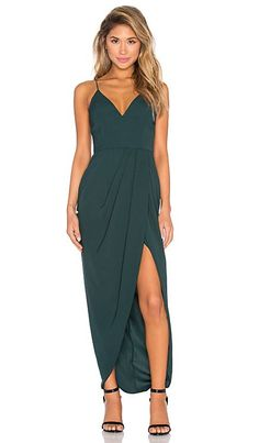 Shona Joy Stellar Drape Maxi Dress in Seaweed | REVOLVE  I originally overlooked this dress but I kept coming back to it. There is just something about it.