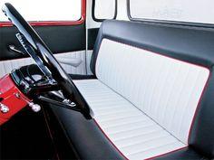 Bench seat for me! Antique Trucks, Vintage Trucks, Old Trucks, Chevy Trucks, Pickup Trucks, Car Interior Upholstery, Automotive Upholstery, Custom Car Interior, Truck Interior