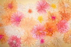 papier crépon fleur toile de fond