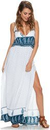 Really needs a tank top but its so pretty!  FAITHFULL THE BRAND LULLABY MAXI DRESS > Womens > Clothing > Dresses | Swell.com