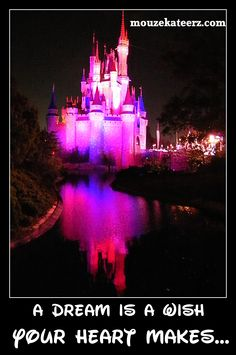A dream is a wish your heart makes.What is your Disney dream? Cinderella Castle, Disney Dream, Disney Stuff, Your Heart, Wonders Of The World, Kid Stuff, Originals, Wish, All Things