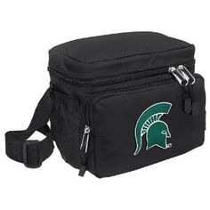 Michigan State University Lunch Box Cooler Bag Insulated MSU Spartans Logo - Top Quality Unique Lunchbox or Sophisticated Black Travel Bag - OFFICIAL NCAA COLLEGE LOGO Merchandise (Misc.)  http://www.99homedecors.com/decors.php?p=B0051RU7DC  B0051RU7DC