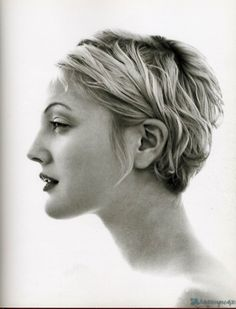 """mesportraitsfavoris: """"Drew Barrymore by Herb Ritts """""""