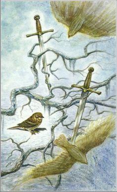 Pyreaus - Divination - Sacred Tarot - Minor Arcana - Two of Swords