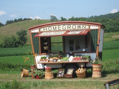 The gypsies are visiting and opened a charming roadside produce stand.....
