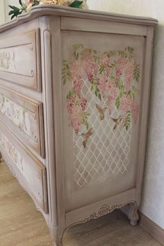 Gorgeous Shabby Chic Decoupage Furniture and Stenciled Funky Painted Furniture, Decoupage Furniture, Refurbished Furniture, Paint Furniture, Repurposed Furniture, Unique Furniture, Shabby Chic Furniture, Furniture Makeover, Furniture Decor