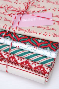 Christmas fabrics ~ Messy Jessy