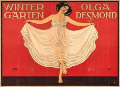 Wintergarten. Olga Desmond,  Variete Zirkus Kabarett, Desmond, Olga, Lehmann, Walter, 1912