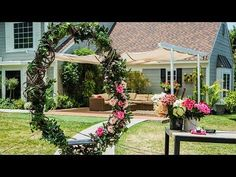 How To - DIY Twig and Floral Circular Swing - Hallmark Channel - YouTube