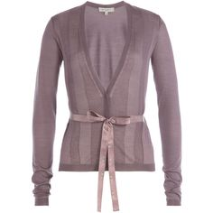 Etro Cashmere Cardigan (€319) ❤ liked on Polyvore featuring tops, cardigans, sweaters, outerwear, etro, purple, purple top, v neck cardigan, purple cashmere cardigan and v-neck cardigan