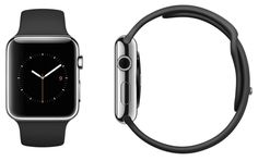 Apple MJ2Y2LL/A Watch 38mm Stainless Steel Case with Black Sport Band #black #sport #band #with #case #watch #stainless #steel #apple