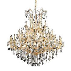 Elegant Lighting Maria Theresa 41 Light Crystal Chandelier Finish / Crystal Color / Crystal Trim: Chrome / Crystal (Clear) / Royal Cut
