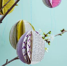 Selbst gemachte Deko-Eier aus Papier - Oster-Dekoration 10 - [LIVING AT HOME]