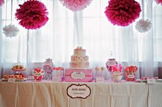 This is an adorable PINK birthday design for a girl :)