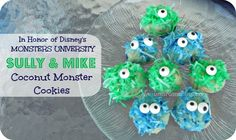 Sully and Mike fans? Make these delicious Monsters University Coconut Cookies that your kids will be sure to love!  #Disney #recipe