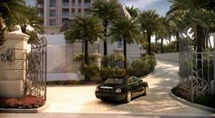 "Residents of The Mansions at Acqualina will enjoy a Rolls Royce ""house car"" offering convenient transportation to surrounding destinations. Luxury Real Estate, Rolls Royce, Transportation, Destinations, Sidewalk, Patio, Mansions, Car, Outdoor Decor"