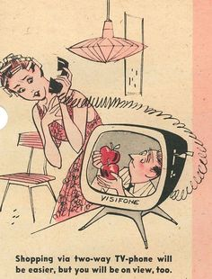 "It's a Wonderful World – Tomorrow!"" New York Mirror Magazine, May 1958 Ilustrations by Bob Bugg. https://remindmagazine.wordpress.com/category/the-fifties/page/3/:"