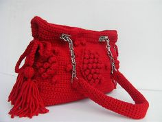 Unique+Knitting+Bags | crochet bag/knitting bag/wool bag/Celebrity style handmade unique bag ...