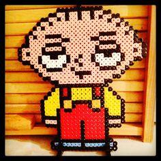 Stewie Family Guy hama beads by jodieloudenny