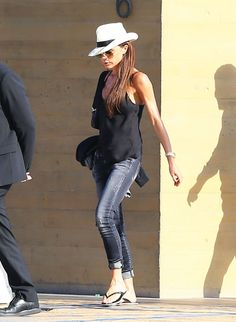 Victoria Beckham Just Made Flip-Flops Look Chic via @WhoWhatWear
