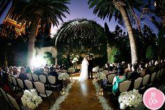 Evening Wedding @ Primrose Courtyard @ the Wynn