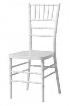 Chiavari banqueting chair white