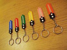 Star Wars Lightsaber Keyrings - Hama retro beads- Free UK Delivery!