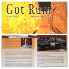 Look who showed up on the October 2012 edition of Got Rum? We are just now seeing a copy and wanted to share it with everyone. Rum, Cool Pictures, October, Movie Posters, Film Poster, Rome, Billboard, Film Posters