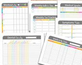 Health, Fitness, and Medical Printables Set - Organizing Documents - INSTANT DOWNLOAD